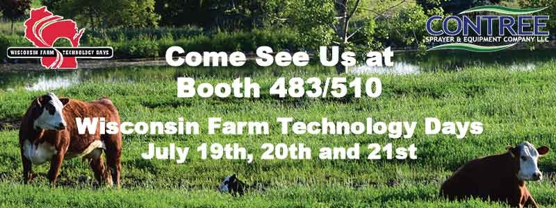 Come See Us at Wisconsin Farm Technology Days - Contree Sprayer and