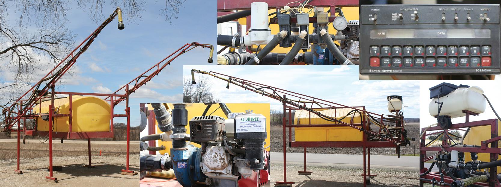 Contree Custom 500 Gallon Used Pickup Truck Sprayer Unit