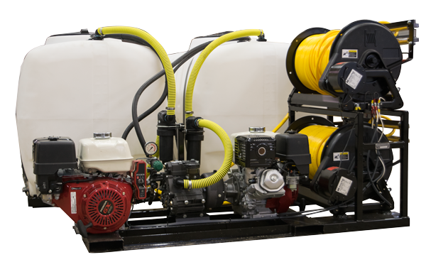 300 Gallon —  with Dual GX390 Honda Engines, Dual Delta-75 Diaphragm Pumps and Dual GES-505 Handguns